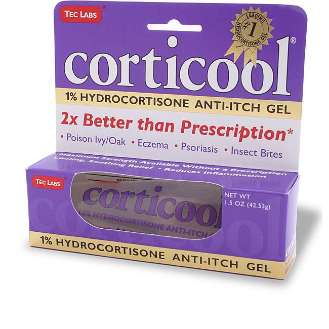 CortiCool 1-percent Hyrdocortisone Anti-Itch 1.5-ounce Gel Tube