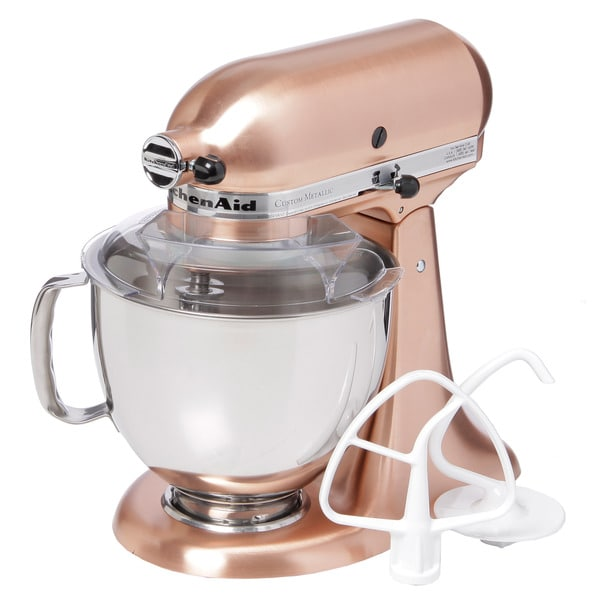 KitchenAid KSM152PSCP Satin Copper 5-quart Custom Metallic Tilt-Head Stand Mixer **with $50 Rebate** - 12949485 - Overstock Shopping - Big Discounts on KitchenAid Mixers