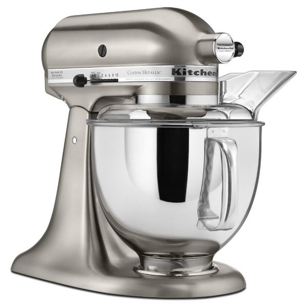 KitchenAid KSM152PSNK Brushed Nickel 5-quart Custom Metallic Tilt-Head Stand Mixer