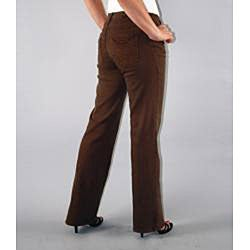 Unique JM Collection Brown Women39s Size 10X29 Short Seamed Dress Pants Pants