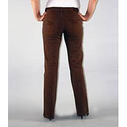 Institute Liberal Women's Brown Twill Bootcut Pants