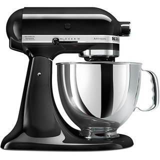 KitchenAid RRK150OB Onyx Black 5-quart Artisan Tilt-Head Stand Mixer (Refurbished)