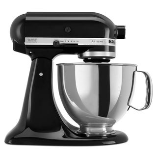 KitchenAid KSM150PSOB Onyx Black 5-quart Artisan Tilt-Head Stand Mixer **with $30 KitchenAid mail-in cash rebate**