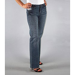 Institute Liberal Women's Medium Blue Stretch Logo Pocket Jeans