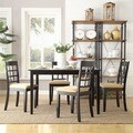 TRIBECCA HOME Wilmington Black Window Back 5-piece Dining Set
