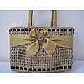 Handmade Natural Square Agel Handbag (Indonesia)