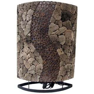 Lava Stone RAS Oval Table Lamp (Indonesia)