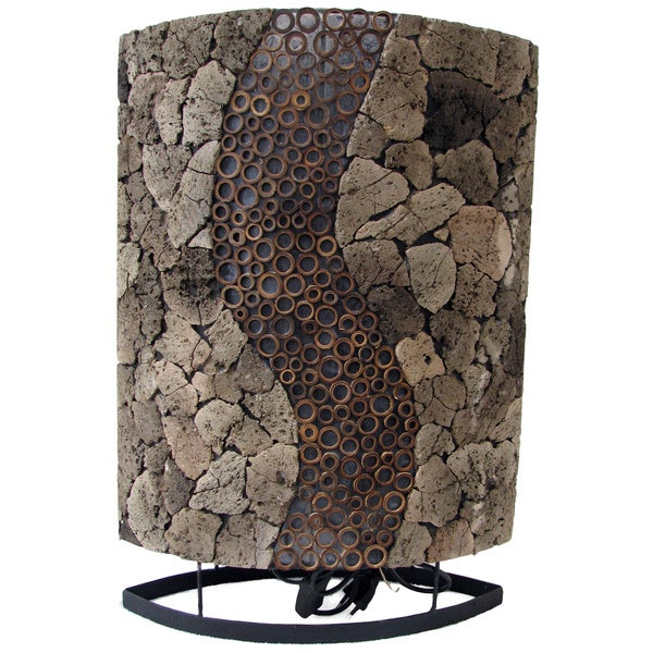 Lava Stone RAS Oval Table Lamp (Indonesia)
