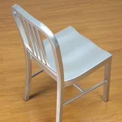 Steel Silvertone Side Chair (Set of 2)