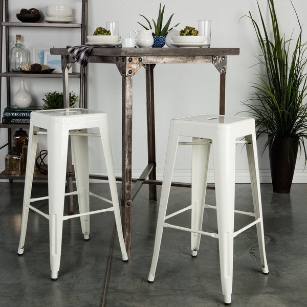 Tabouret 30 Inch White Bar Stools Set Of 2 12950056 Shopp