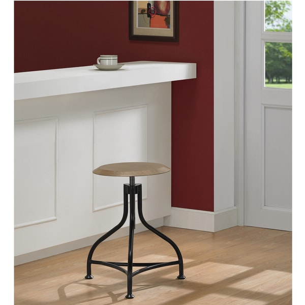 Metal/ Wood Adjustable Stool