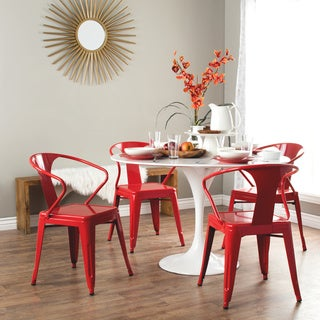 Red Tabouret Stacking Chairs (Set of 4)