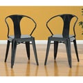 Black Tabouret Stacking Chairs (Set of 4)