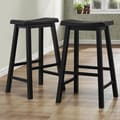 TRIBECCA HOME Salvador Saddle Back 29-inch Stool in Black Sand-Through (Set of 2)