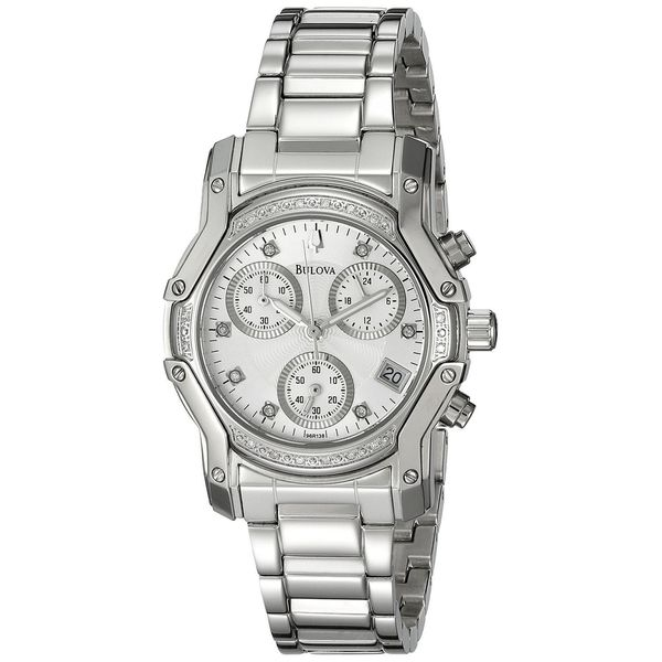 Bulova Women's 96R138 Stainless Steel Diamond Accent Watch