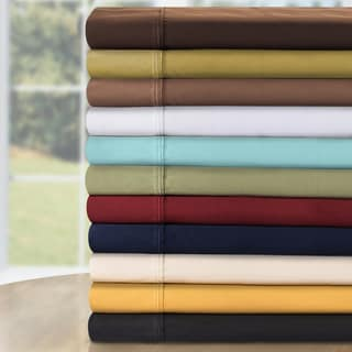 Luxor Treasures Egyptian Cotton 530 Thread Count Solid Deep Pocket Sheet Set