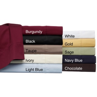 Egyptian Cotton 530 Thread Count Solid Pillowcase Set