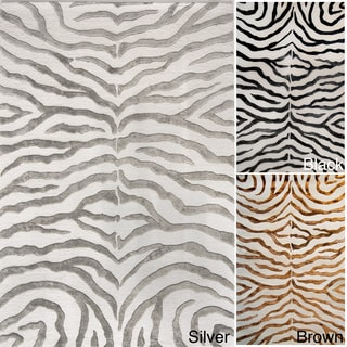 nuLOOM New Zealand Faux/Silk Zebra Rug (4' x 6')