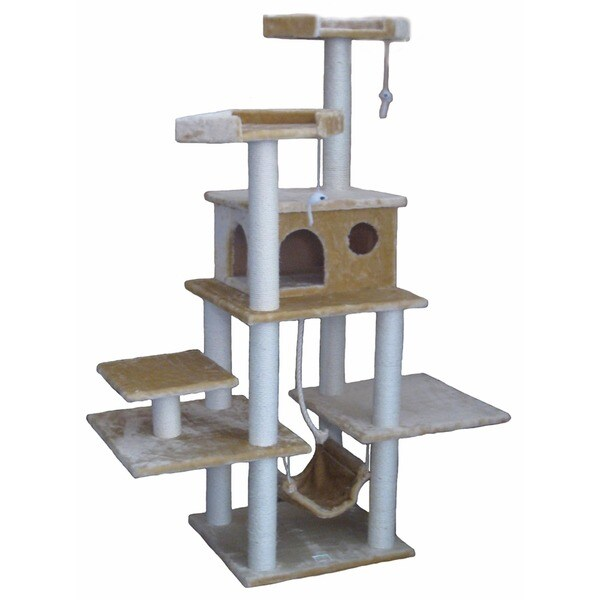 Go Pet Club 72-inch Condo House Cat Tree