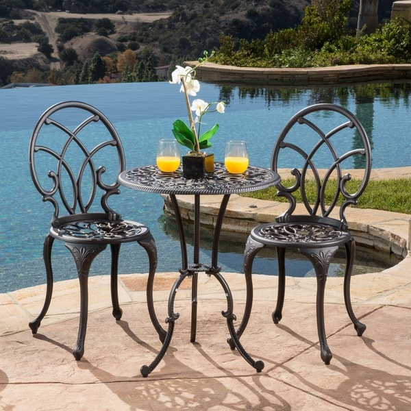Christopher Knight Home Charleston Aluminum Copper Bistro Set