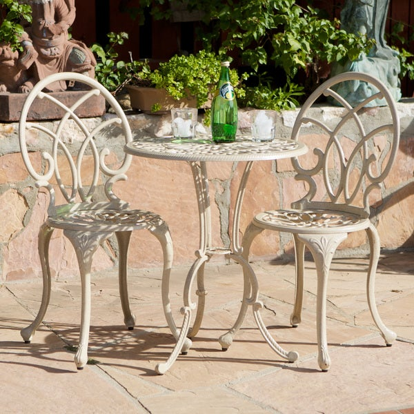 Christopher Knight Home Anacapa Sand Bistro Set Overstock Shopping Big Di