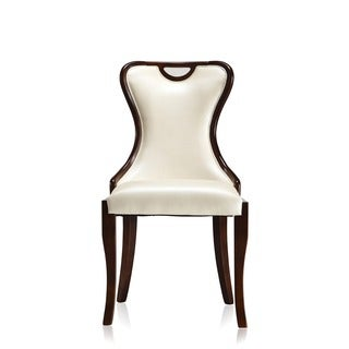 Transitional Faux Leather Chairs (Set of 2)