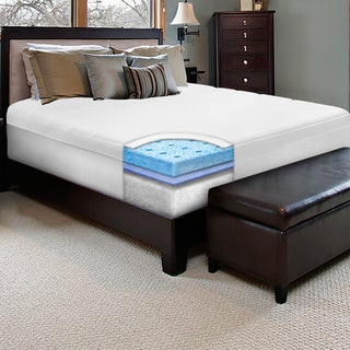 Swiss Lux 10-inch California King-size European-style Memory Foam Mattress