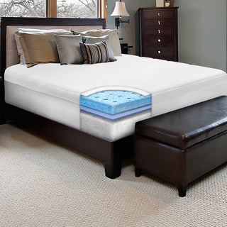 SwissLux 10-inch California King-size European-style Memory Foam Mattress