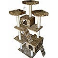 Condo House Scratcher Leopard Print 72-inch Cat Tree Furniture