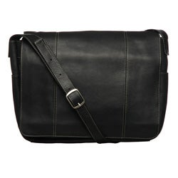 Royce Vaquetta Leather 13-inch Laptop Messenger Bag