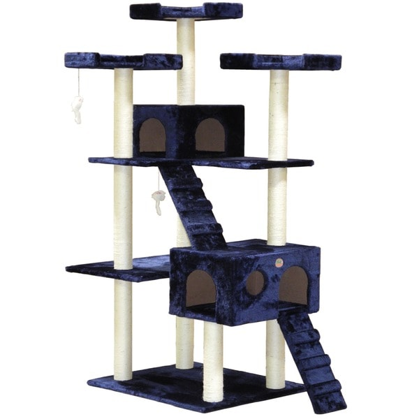 Go Pet Club Blue 72-inch Colossal Condo Cat Tree
