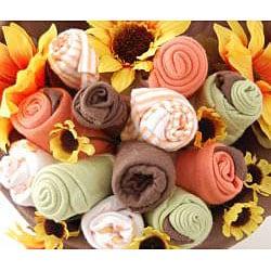 Nikki's Organic Sunburst Baby Blossom Clothing Bouquet