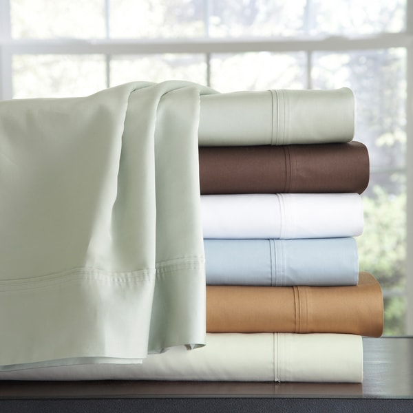 500 Thread Count Egyptian Cotton Extra Deep Pocket Sheet Set with Optional Pillowcase Separates