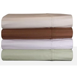 Sateen Cotton 300 Thread Count Woven Stripe Sheet Set