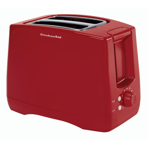 KitchenAid KTT340ER Empire Red Extra Wide Two-slot Toaster ...