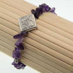 Tibetan Silver Amethyst Chip Bracelet (China)