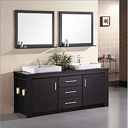 Design Element Altima Black Wood Vanity Set