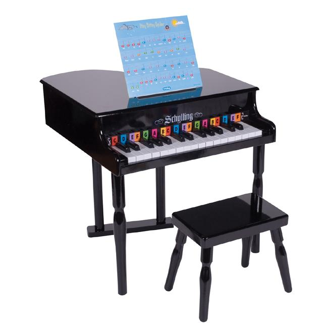Schylling baby grand piano overstock shopping big for How big is a baby grand piano
