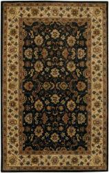Hand-tufted Mandara Black Wool Rug (7'9 x 10'6)