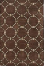 Hand-Tufted 'Mandara' Geometric Brown Wool Rug (9' x 13')