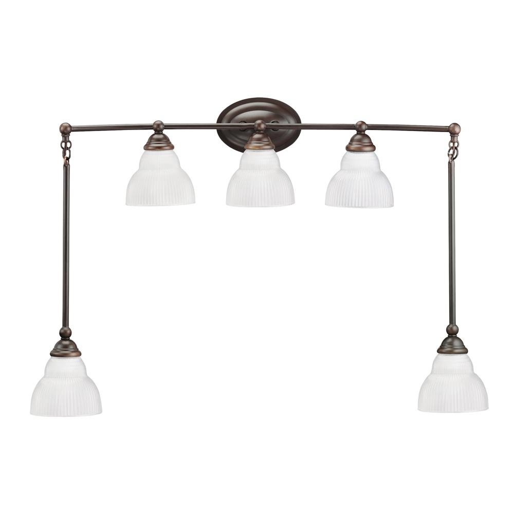 Bathroom Vanity 5-light Wall Mount Fixture - 12596479 - Overstock.com Shopping - Top Rated ...