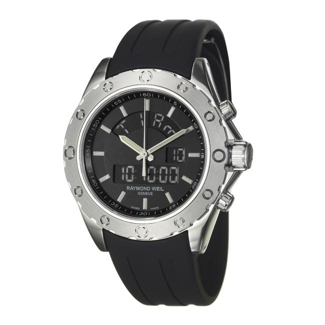 Raymond Weil Men's 'RW Sport' Stainless Steel, Rubber Digital Watch