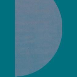 Hand-woven Bosstyn Blue Wool Rug (6' Round)
