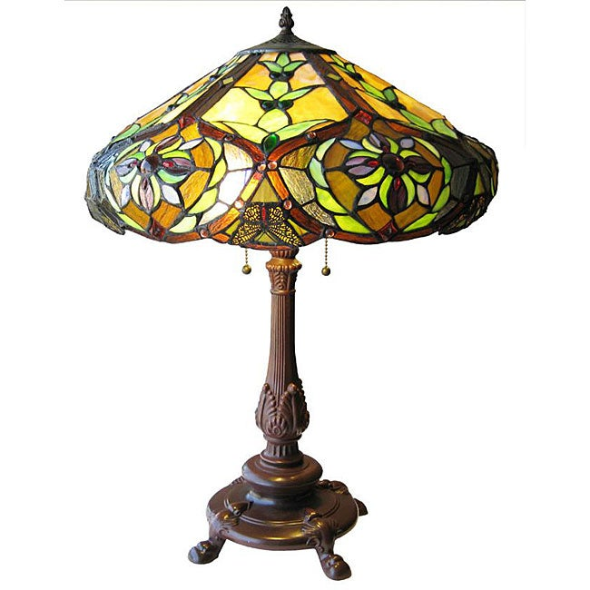 Tiffany-style Victorian 2-light Table Lamp