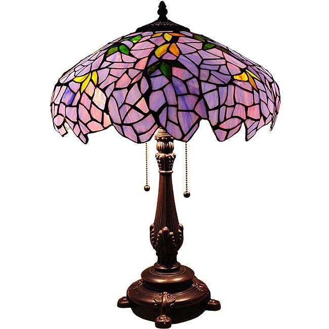tiffany style wisteria 2 light table lamp 12954289. Black Bedroom Furniture Sets. Home Design Ideas