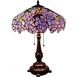 Tiffany-style Wisteria 2-light Table Lamp
