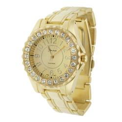 Geneva Platinum Women's Rhinestone Link Watch