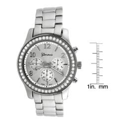 Geneva Platinum Women's CZ Accented Link Watch