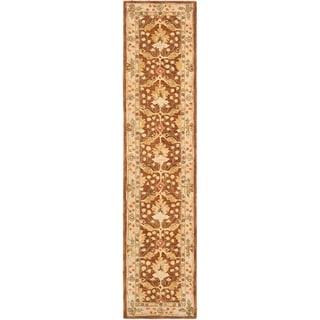 Safavieh Handmade Oushak Brown/ Ivory Wool Runner (2'3 x 14')