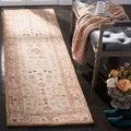 Handmade Treasured Sand Wool Runner (2&#39;3 x 12&#39;)